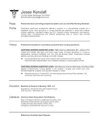 basic resume outline objective sle cna resume resume paper ideas