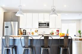 island stools for kitchen finding the right bar stools for your kitchen island space habit