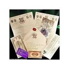 harry potter hogwarts acceptance letter ministry of magic harry