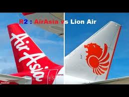 airasia vs citilink airasia vs lion air youtube