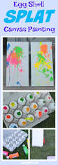 egg shell splat canvas painting building our story