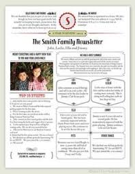 christmas letter newspaper format business template
