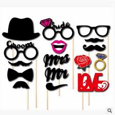 wedding photo props 76pcs photo mustache stick booth wedding prop welcome mask props