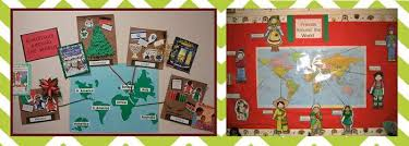 around the world winter bulletin board