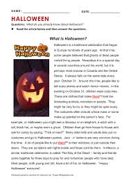 brilliant ideas of halloween reading comprehension worksheets 5th