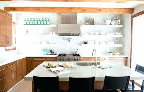 shelving ideas for kitchen open shelving kitchen ideas sleek white dishes on open shelving in a