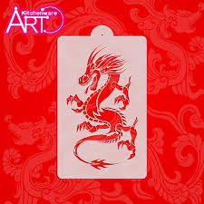 aliexpress com buy one rising chinese dragon cake stencil