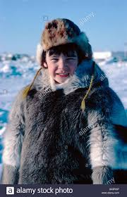 nigel boddy young native boy dressed in traditional inuit skin