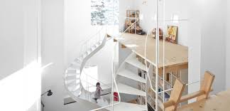 open floor plan inhabitat green design innovation case house a daring loft style home with playful twisting staircases