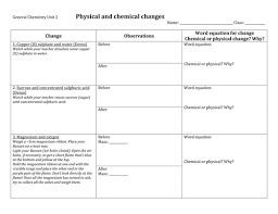 physical and chemical changes practical by jimex teaching