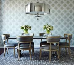 wallpaper accent wall dining room dining room contemporary with