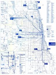 Chicago Downtown Map by Chicago U0027 U0027l U0027 U0027 Org System Maps Route Maps