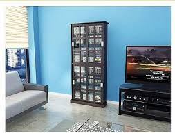dvd cabinets with glass doors dvd media storage cabinet tower pedestal cd multimedia stand