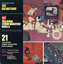 101 dalmatians talking 3 reel viewmaster 3d glasses 3d