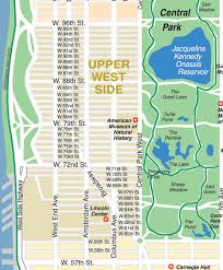 A Map Of New York City by Upper East Side New York City Streets Map Street Location Maps