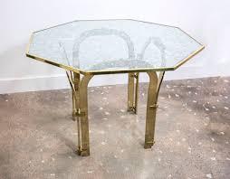 milo baughman dining table octagonal brass dining table in the style of milo baughman tables