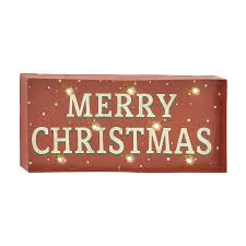 shop woodland imports pre lit merry christmas sign with constant