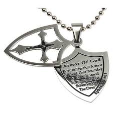 armor of god necklace shield of faith armor of god necklace ephesians 6 11 stainless