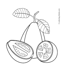 first fruits coloring page with fruits coloring pages printable