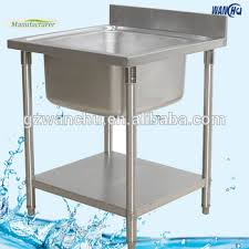 Single Sink Stainless Steel Portable Kitchen Sink Table Buy - Kitchen sink portable