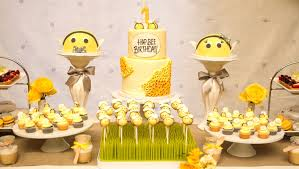 bumble bee baby shower dessert table like success