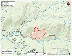 Map Of Yosemite South Fork Fire In Yosemite Now At 1 700 Acres Sierra News Online