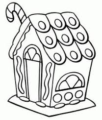 free online gingerbread house colouring page kids activity