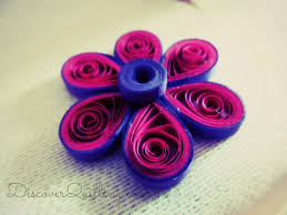 diy paper quilling tutorial pink and purple flower youtube