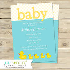 rubber duck baby shower invitations rubber duck shower