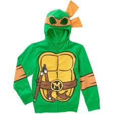 mutant turtles michelangelo boys costume hoodie