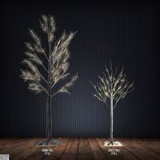 artifical trees set sale of 7 snow led tree and 3