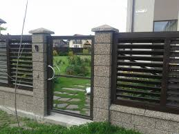 concrete fence design ideas modern house front gate ny finance