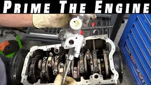 how to prime an engine and oil pump youtube