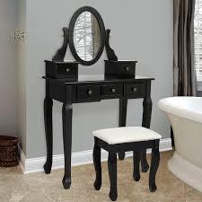 bathroom vanity table set black u2013 best choice products