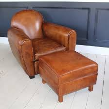 Club Chairs With Ottoman Club Chairs With Ottomans Pair Of New Leather Club Chairs