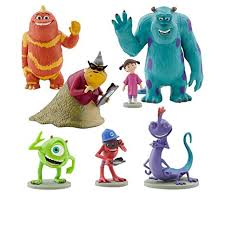 monsters inc cake toppers disney monsters inc figure play set 7 pvc cake