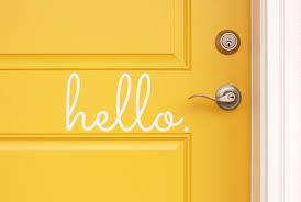 hello vinyl door decal hello front door decals hello home