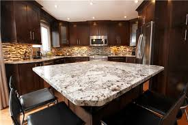 Kitchen Island Granite Countertop Furniture Small Kitchen Design With Square Brown Kitchen Island