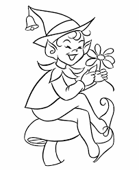 elf coloring pages coloring