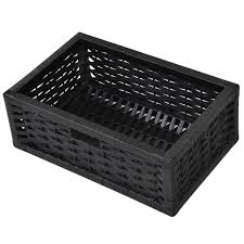 3 drawers wicker baskets storage chest rack storage chests