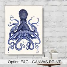 Octopus Home Decor Animals Intelligent Octopus Print Book By Fabfunky Home Decor