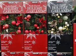 Christmas Garland With Lights by Kirkland Signature Pre Lit Decorated Holiday Garland