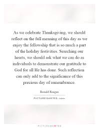 as we celebrate thanksgiving we should reflect on the