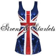 Ginger Spice Halloween Costume Union Jack British 60s 90s Ginger Spice Girls Mini Fancy Dress