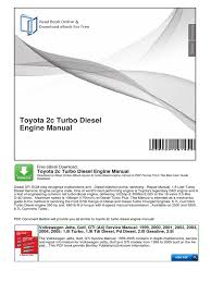 toyota 2c turbo diesel engine manual pdf manual transmission