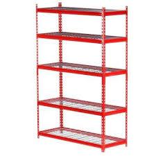 Garage Organization Systems Reviews - red garage shelves u0026 racks garage storage the home depot