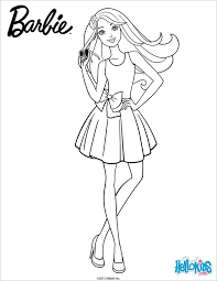 barbie print coloring pages coloring