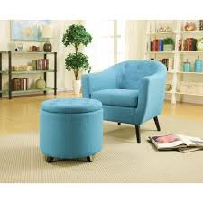 Accent Chairs For Living Room As A Decoration Home Decorators Collection Modern Fabric Accent Chair In Turquoise