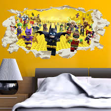 lego batman superheroes in wall crack kids boy bedroom decal art lego batman superheroes in wall crack kids boy bedroom decal art sticker gift new