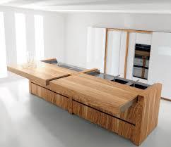 cuisine en bois d olivier avec îlot essential wood collection